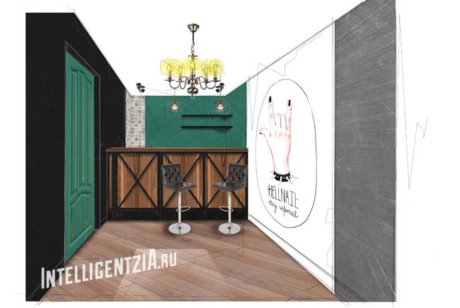 дизайн для барбер шопа