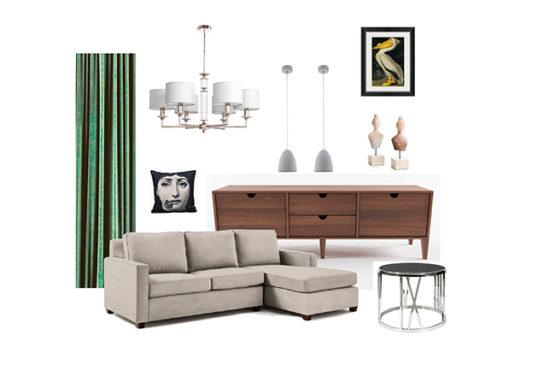Подбор мебели и света