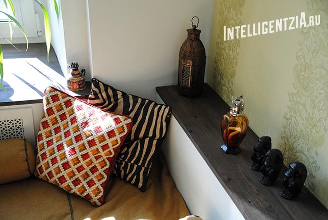этнические подушки в интерьере