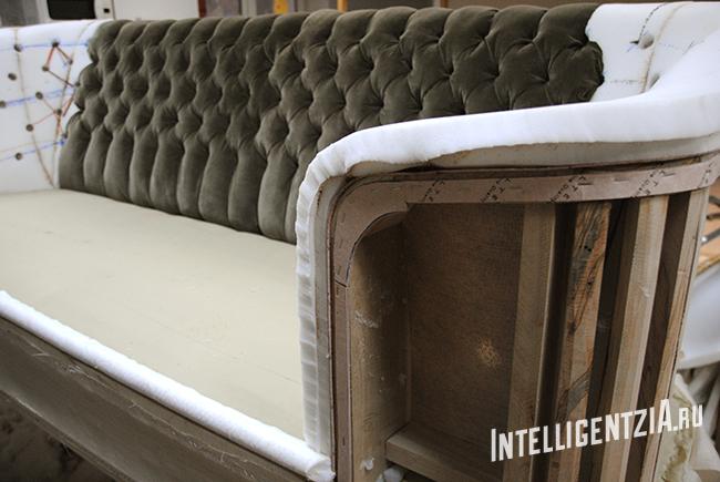 перетяжка дивана с капитоне в Москве