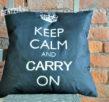 "Подушка с надписью ""keep calm and carry on"""