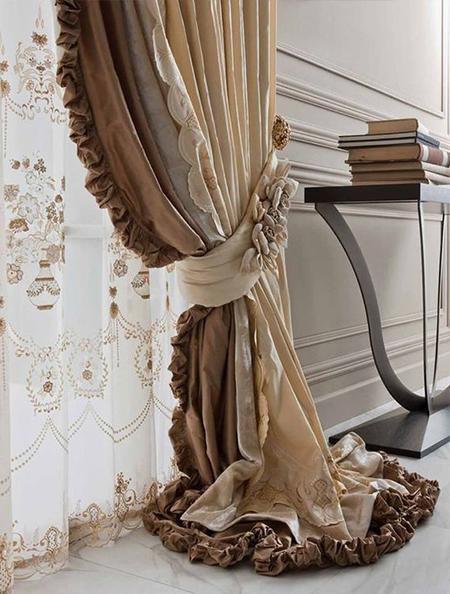 шторы с рюшами