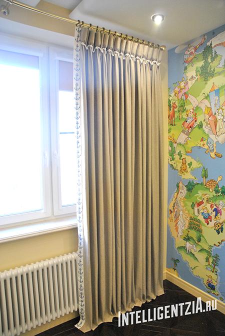 шторы с узлами
