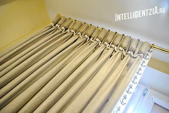 шторы с завязками