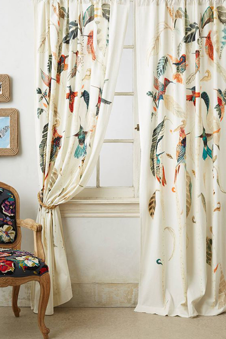 ткани для штор с птицами