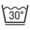 деликатная стирка до 30°C