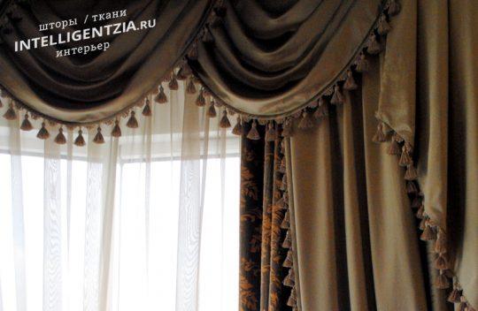 шторы с ламбрекенами на заказ в Москве